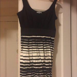 Large black and white dress